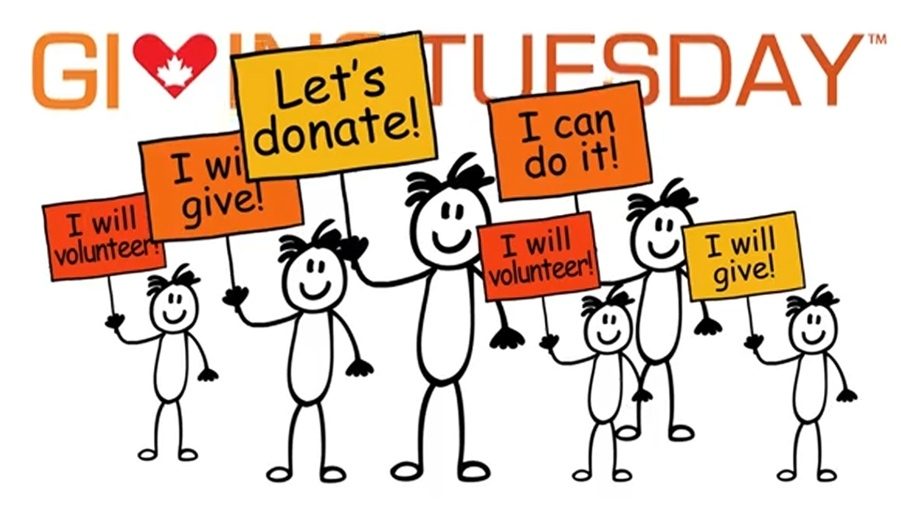 Help us with your donation on Giving Tuesday, November 27th