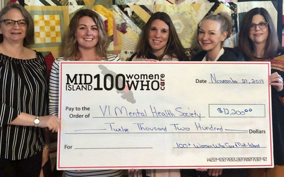 VIMHS receives generous donation from the 100+ Women Who Care Mid-Island group